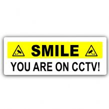 Smile You Are On CCTV-Aluminium Metal Sign-Door,Notice,Office,Premises,Security,Home,Camera,Business